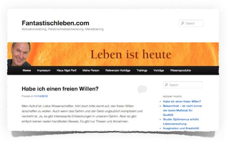 fantastisch leben Blog Klaus Pertl