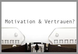 motivation und vertrauen